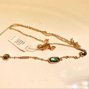 Kendra Scott Rosegold Necklace with Abalone Stone